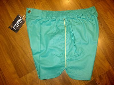 NEW Vtg 70s 80s Vanderbilt GREEN Striped Mens XL Retro TENNIS Track shorts NOS