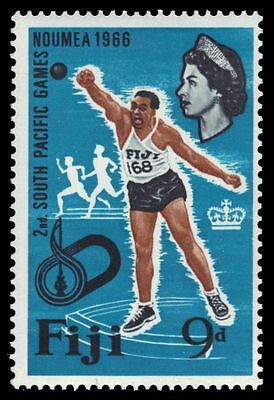 "FIJI 227 (SG357) - NOUMEA '66 South Pacific Games ""Shot Put"" (pf38674)"