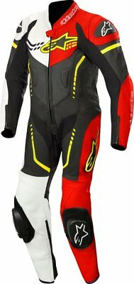 Alpinestars GP Plus Youth 1-Piece Leather Suit Black/White/Red/Yellow
