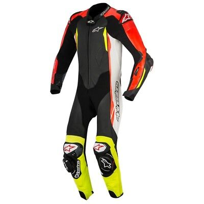 Alpinestars GP Tech V2 Mens Leather One Piece Suit Black/White/Red/Yellow