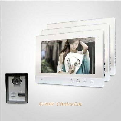 10.1inch Video Door Phone Intercom System Electric Lock Supported for Apartment