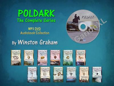 The Complete POLDARK Series By Winston Graham (12 MP3 Audiobooks)