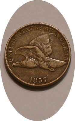 1857 Flying Eagle Cent very Nice FULL DETAIL