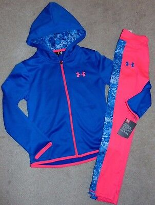 ~NWT Girls UNDER ARMOUR 2-Piece Zip-Up Hoodie Outfit! Size 5 Cute:)!!