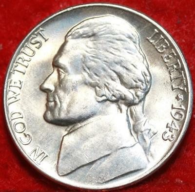 Uncirculated 1943-D Denver  Mint Silver Jefferson Nickel