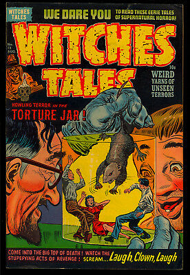 Witches Tales #13 Very Nice Pre-Code Harvey File Copy Horror Comic 1952 FN-
