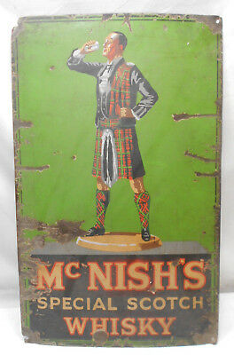 Enamel Sign McNISH'S SPECIAL SCOTCH WHISKY Advertising VINTAGE  #156