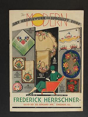 CIRCA1940s FREDERICK HERRSCHNER CATALOG~26 Pages of FASHION and FANCY WORK