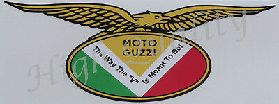 Moto Guzzi Eagle The Way The V Is Meant To Be  Decal Sticker.   Z021.