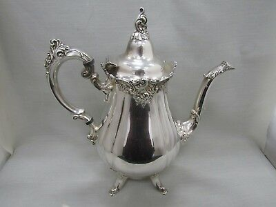 Wallace Baroque Floral Silver Plated Coffee Pot