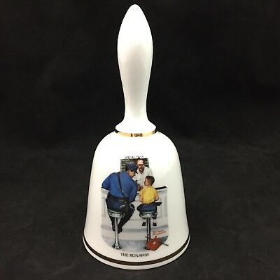 The Danbury Mint Limited Ed. Norman Rockwell The Runaway Decorative Ceramic Bell