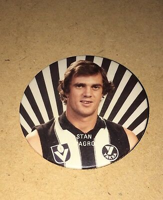 LATE 70'S/EARLY 80's COLLINGWOOD PLAYER BADGE - STAN MAGRO