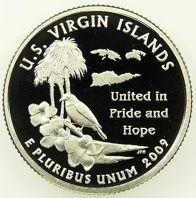 2009 S Deep Cameo Clad Proof U.S. Virgin Islands Washington Quarter (B02)