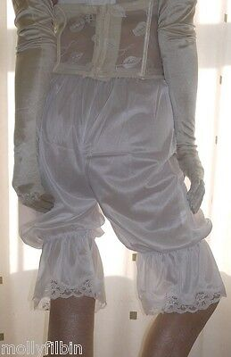 Vintage inspired Victorian~Edwardian style white bloomers~pettipants~culottes