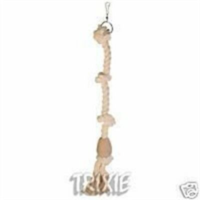 Trixie 5168 Climbing Rope 60cm / Ø 23mm - Bird 60cm Cotton Toy Hanging Parrots