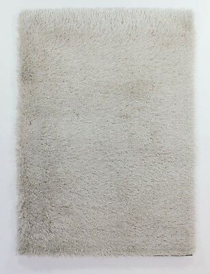 Modern Natural Ecru Cosy Shaggy Rugs Soft Thick Furry Polyester Living Room Rug