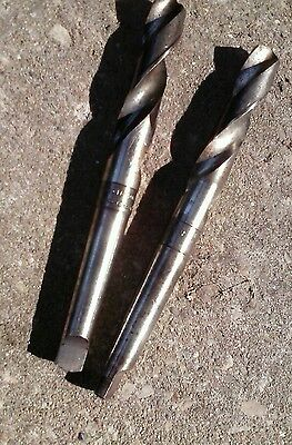 """25-32 & 23-32 TAPERED SHANK DRILL BIT 7.5"""" long made in USA vintage"""