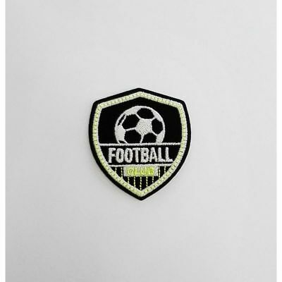 2d5bccc0e95f Ecusson Thermocollant Football Club Jaune Luminescent 5 x 5,50 cm REF 3439
