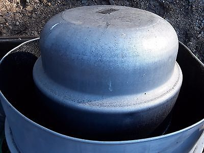 large Dreaco brand down-blast roof exhaust fan restaurant used needs cleaned