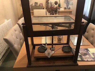 Antique Scales In Glass Box
