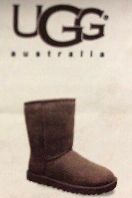 UGG Women's Classic Short Sheepskin Boots 207900 5825 CHOCOLATE CHECK FOR SIZE