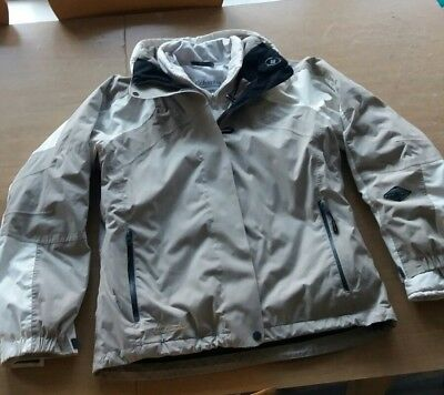 COLUMBIA TITANIUM Omnitech Interchange grey Ski Jacket + Inner. Womens GOOD CON
