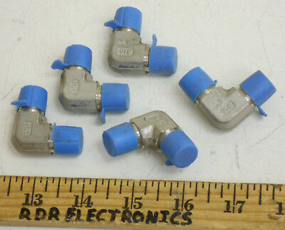 Lot of 5 - SSP 1/4 NPT 316 SS Stainless Steel Elbow Pipe Fitting - NOS