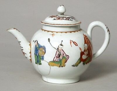 Antique 18Thc Worcester Early English Porcelain Pu Tai Teapot