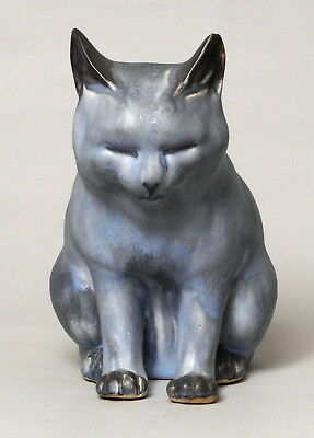 Really Good Unusual Large Antique Denby Danesby Pottery Cat