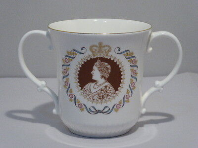Lovely Royal Doulton Queen Mother 80th Birthday Commemorative Loving Cup