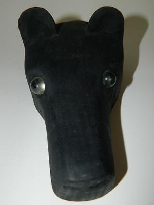 Hand Carved Wood Indian Mask Cherokee Nc Davis Welch Black Dog Marble Eyes