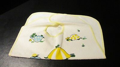 Vintage Baby Bib Brand New Carter's Turtles 100% Cotton Machine Wash And Dry