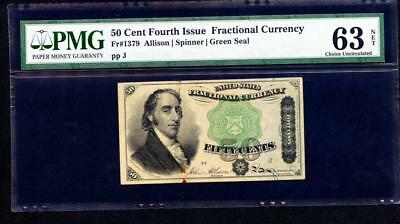 1859 50 Cent Fractional Currency Fourth Series Pmg 63 Net Please  Lqqk!*