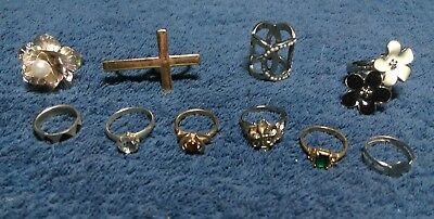 """Estate vintage  Lot of Jewelry  Junk drawer. """" All Rings"""""""