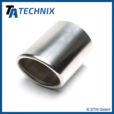 TA TECHNIX End pipe Stainless Steel Universal 3 11/32x3 5/8in Oval /Flanged/