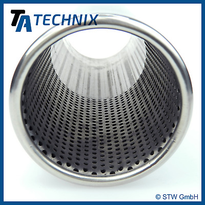 TA TECHNIX End pipe exhaust end pipe Stainless Steel Universal 3 15/16in Round