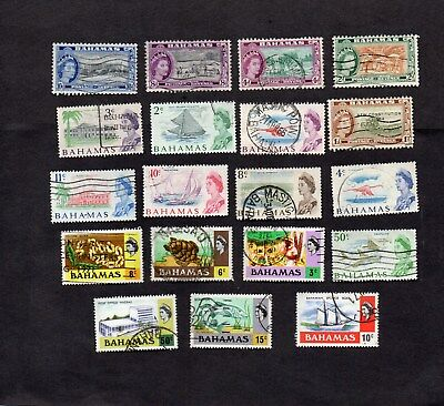 1954-70s. 19xDIFFERENT QEII PICTORIAL DEFINITIVE STAMPS. GOOD USED.