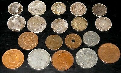 Foreign Coin Lot with 10 Silver Coins and Several Vintage Coins! (c12)