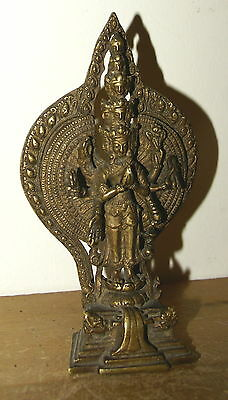 BEAUTIFUL EARLY 20th CENTURY 11 HEADS 8 ARMS BRONZEDEITY - FROM INDIA