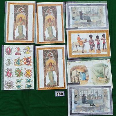 LV888 Mamelok Golden Victorian Scraps - Die Cut Reliefs 8 packs FREE UK shipping