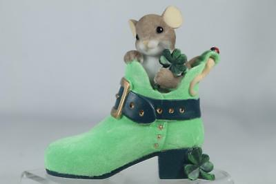 Charming Tails 'You're One Lucky Sole' Four Leaf Clover Shoe #4025756 New In Box