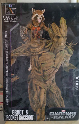 Guardians Of The Galaxy Groot And Rocket Raccoon Statue 588/735 1:4 Scale Marvel