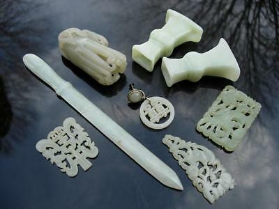Group Of Old Chinese Jade & Hardstone Carvings