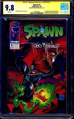 Spawn #1 CGC SS 9.8 signed Todd McFarlane MOVIE COMING IMAGE 1992