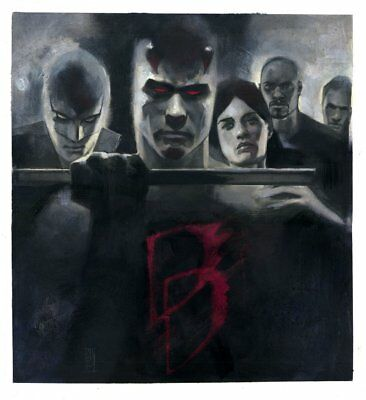 Defenders #1 Painted Cover Daredevil, Iron Fist Jessica Jones art by Alex Maleev
