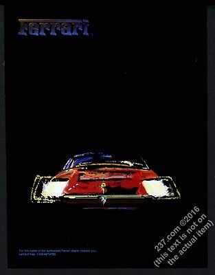 1985 Ferrari 328 red car art vintage print ad