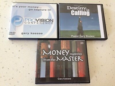3 Gary Keesee Christian CDs/DVDs Teaching Sets Used Christianity