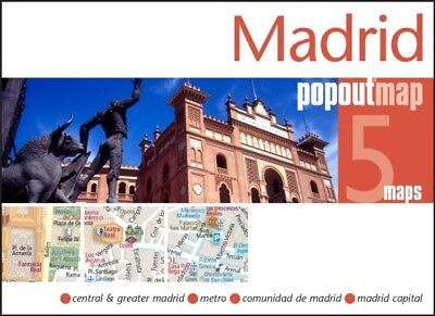 Madrid Popout Map - handy pocket size pop-up city map of Madrid; ...