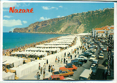 (518) Nazare Avenue and Beach Manta A Postkarte Ansichtskarte
