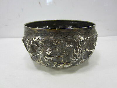 Antique Burmese Sterling Repousse Monks Bowl